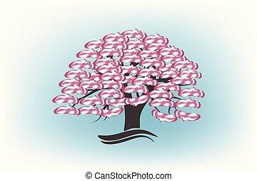 桜の木, ロゴ