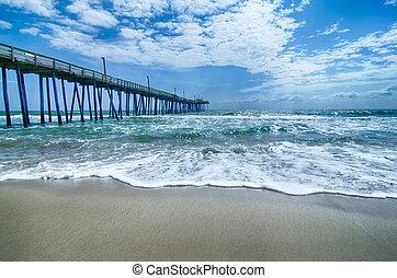 桟橋, ノースカロライナ, 外の, 釣り, 銀行