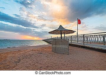 桟橋, 浜