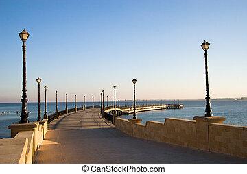 桟橋, 海, 赤