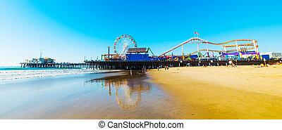 桟橋, monica, 公園, 娯楽, santa
