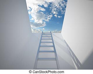 梯子, 主要, 向上, 到, the, 光