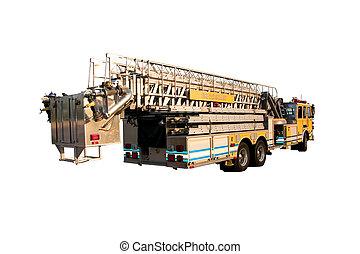 梯子, 卡車, 背, 被隔离