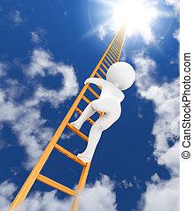 梯子, 天空, 3d