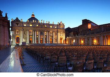 梵蒂岡博物館, 在, 王宮, ......的, st 。 彼得, 以及, 行, ......的, 灰色, 椅子, 在,...