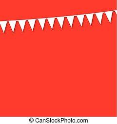 棉經毛緯平紋呢, 旗