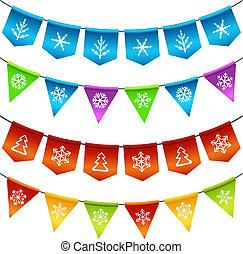 棉經毛緯平紋呢, 旗, 聖誕節