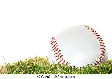 棒球, 上, 草