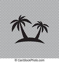 棕櫚, 矢量, 樹, 圖象