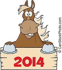 棕色的马, 空白, 结束, 签署