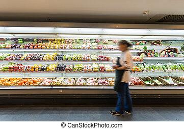 棚, スーパーマーケット, 成果