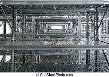 棚, 金属, 貯蔵 部屋, 空
