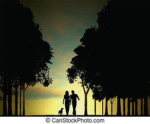 森林地帯, 歩行者