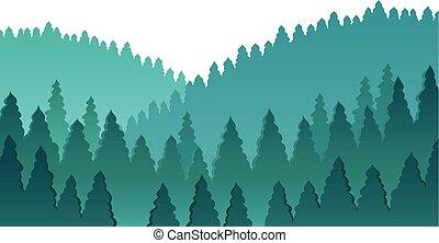 森林, 主題, イメージ, 1