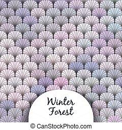 森林, 冬, 手ざわり, うろこ状