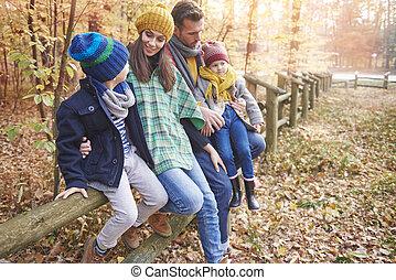 森林, 家族の 時間