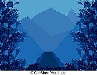 森林, 岩が多い, 風景, ピークに達する, 植物, 山