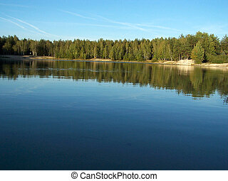森林, 湖, 2