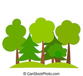 森クリップアートベクターグラフィック334456 森epsクリップアート