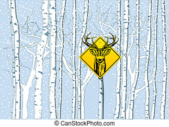 森, 鹿, 注意