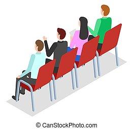 椅子, イメージ, モデル, 会議, 関係者, 保有物, negotiations., 平ら, 取引しなさい, cooperation.