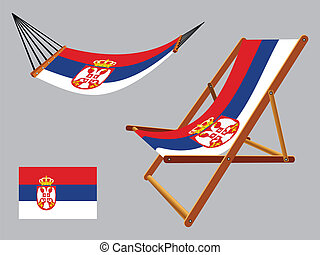 椅子, セット, セルビア, ハンモック, デッキ