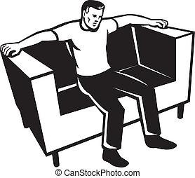 椅子, ソファー, 人間が座る