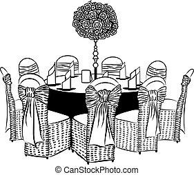椅子, テーブル, 宴会