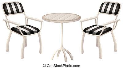 椅子, テーブル, 2