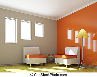 椅子, テーブル, livingroom