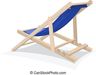 椅子, ベクトル, 浜