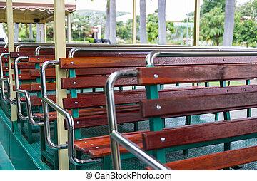 ∥, 椅子, 上に, シャトルバス