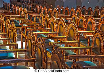 椅子, 中に, ∥, 教会, .