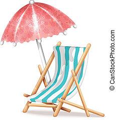 椅子, 伞, 甲板