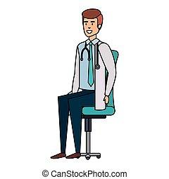 椅子, 医者, オフィス, モデル