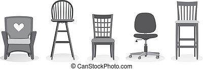 椅子, 各種組み合わせ