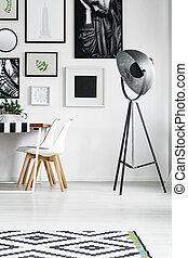 椅子, 桌子, 白色