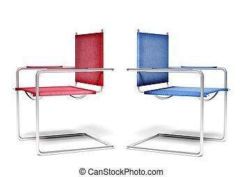 椅子, 概念, 不一致, オフィス, ビジネス