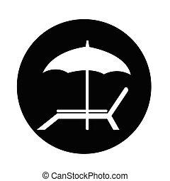 椅子, 浜, アイコン