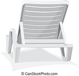 椅子, 浜, プラスチック