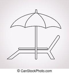椅子, 海滩, 图标