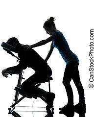 椅子, 療法, 背中のマッサージ