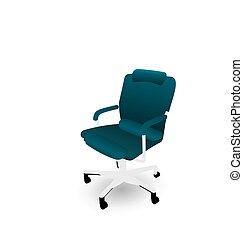 椅子, 白い背景, 隔離された, オフィス