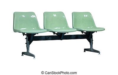 椅子, 隔離された, プラスチック, 白, クリッピング道, 背景