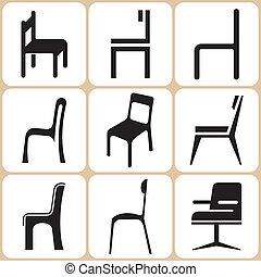 椅子, 集合, 圖象
