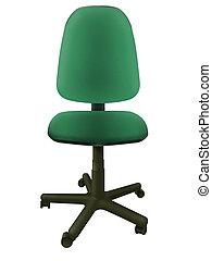 椅子, 2, 緑, オフィス