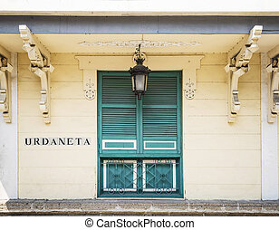 植民地, 建築, 中に, intramuros, 古い 町, の, マニラ, フィリピン