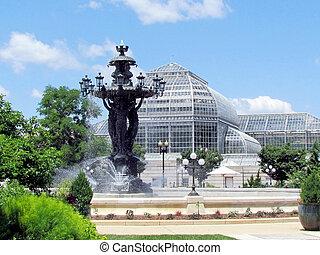 植物園, 2013, ワシントン, 噴水, bartholdi, 庭