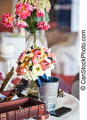 植物的裝飾, 桌子, 婚禮