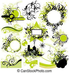 植物群的元素, 设计
